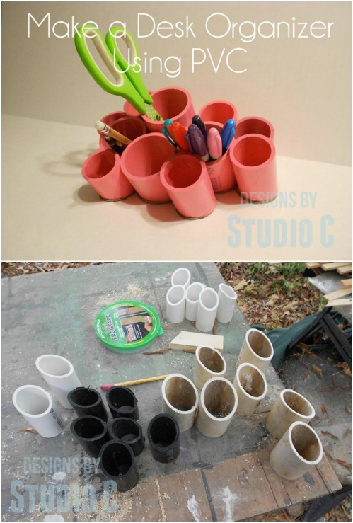 Desk Organizer -   How use pvc pipe for home and garden