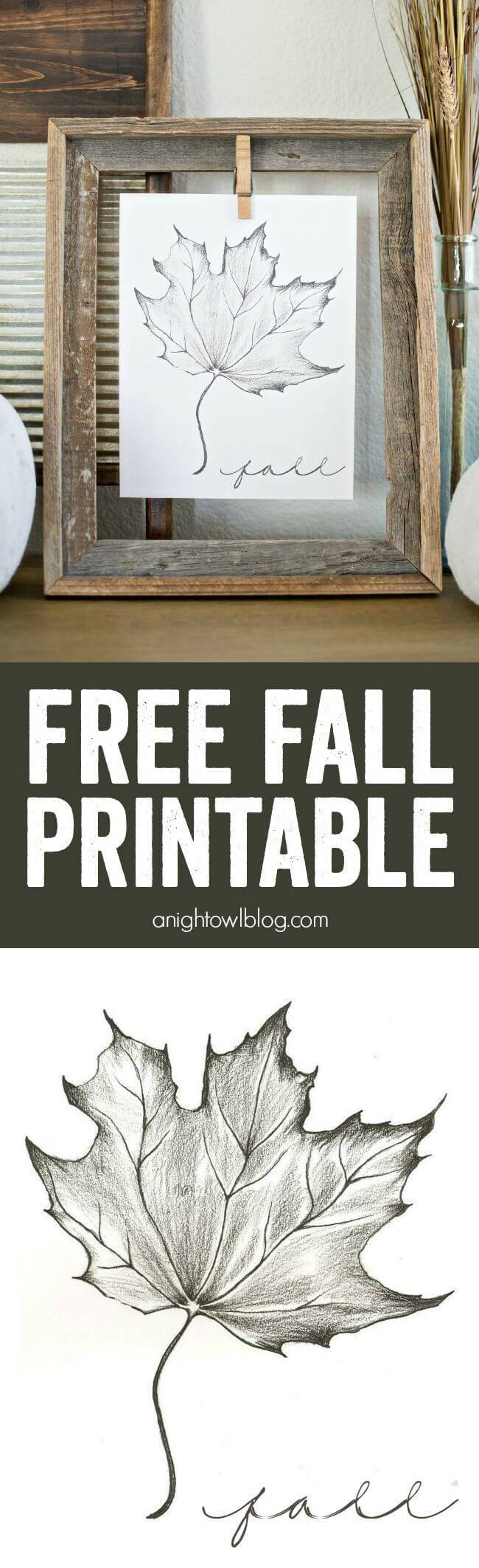 5. Fall printable -   HOME DECORATIONS WITH FALL LEAVES