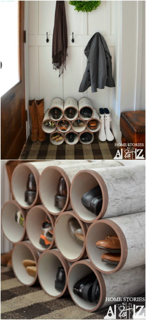 Shoe Rack -   How use pvc pipe for home and garden
