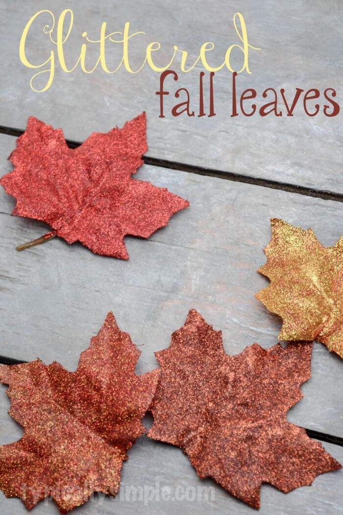Glittered fall leaves DIY -   HOME DECORATIONS WITH FALL LEAVES