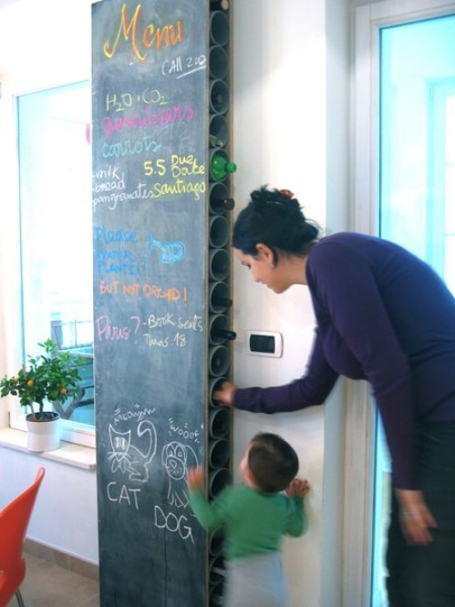 Chalkboard Wine Rack -   How use pvc pipe for home and garden