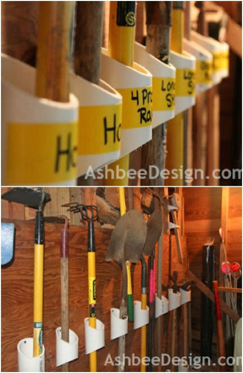 Garden Tool Organizer -   How use pvc pipe for home and garden
