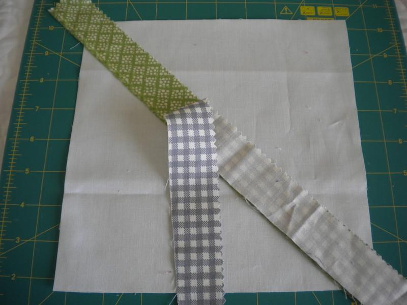 Adding Second Strip of Fabric