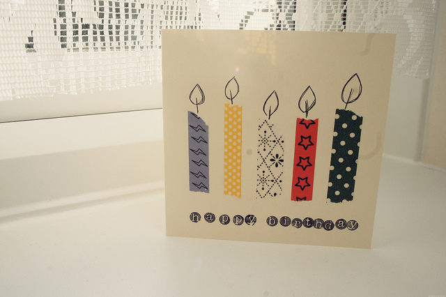 Homemade Candle Birthday Card -   homemade candle birthday card.