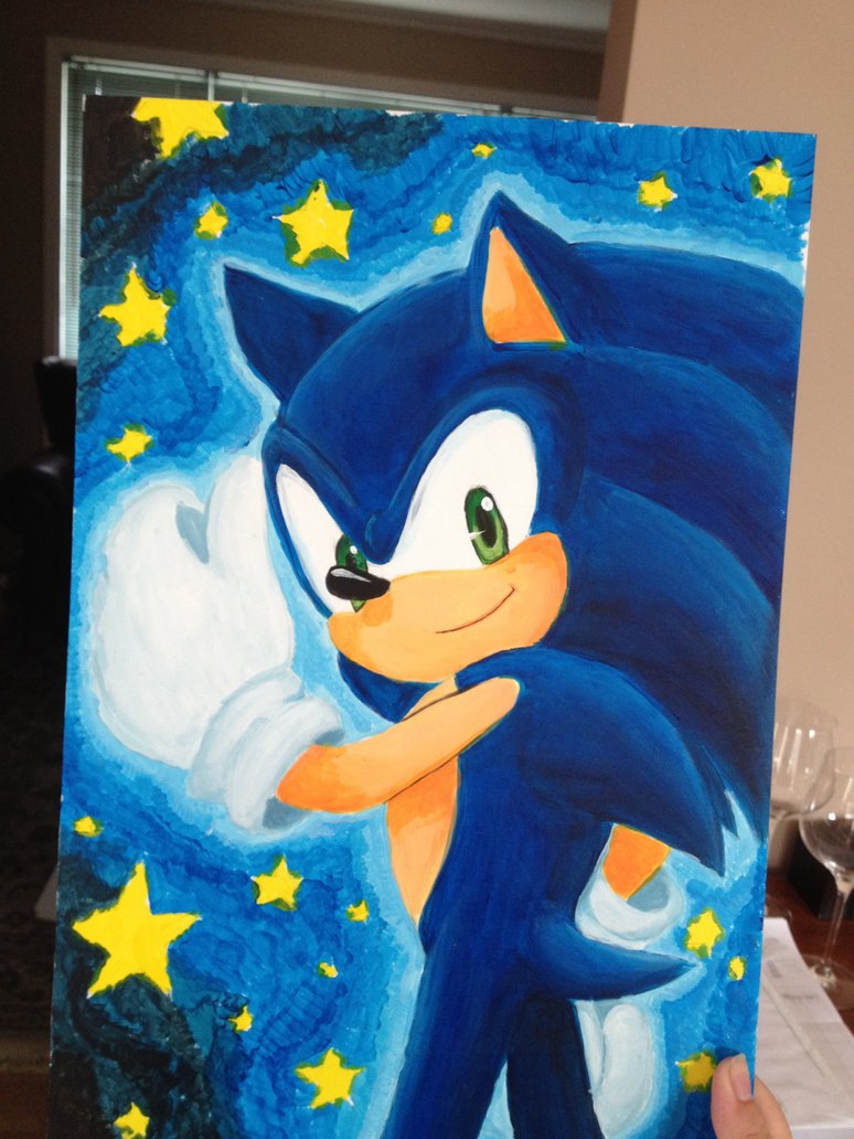 Sonic Painting By Angelofhapiness On Deviantart Hedgehog Face Painting We Know How To Do It