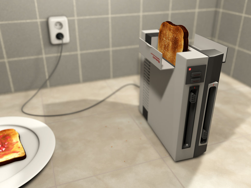 NES Toaster by =MyBurningEyes on deviantART