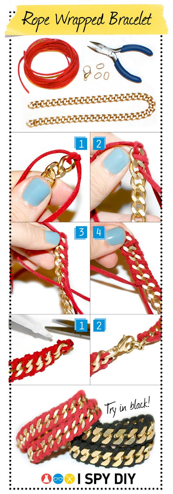 rope wrapped bracelet