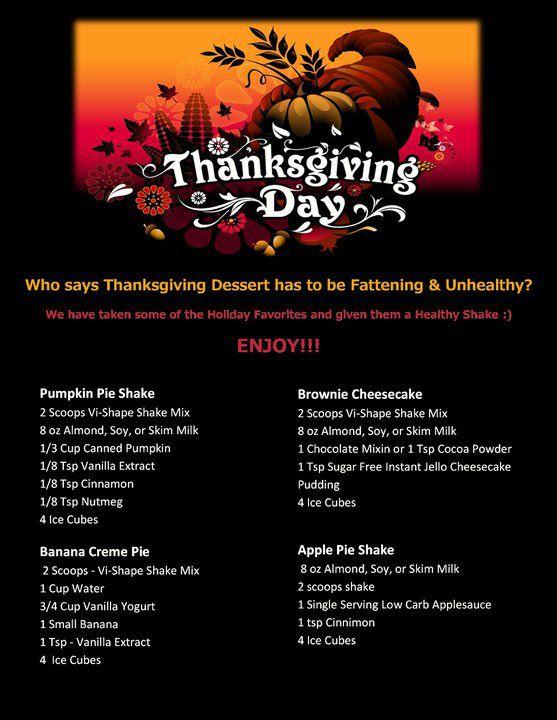 Thanksgiving Visalus Shakes