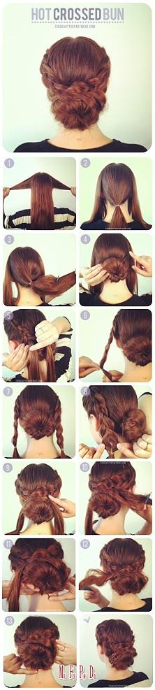 Hot cross bun hairto hairdo!