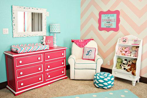 trendy girls nursery