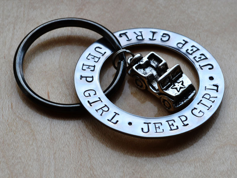 Jeep Girl Key Chain