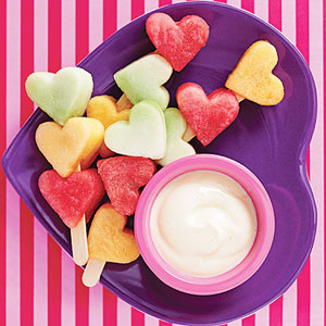 heart fruit kabos with dip