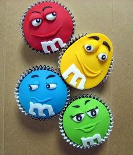 M&M; Cupcakes