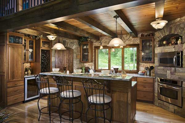 Log House Kitchen We Know How To Do It