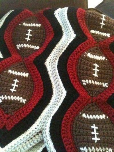 FOOTBALL afghan graph pattern Crochet Patterns