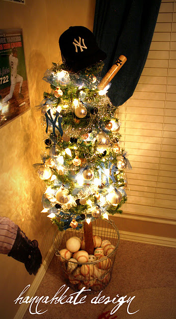 Baseball Christmas Tree how cute is