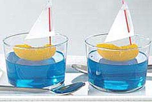 blue jello and tangerine sailboats