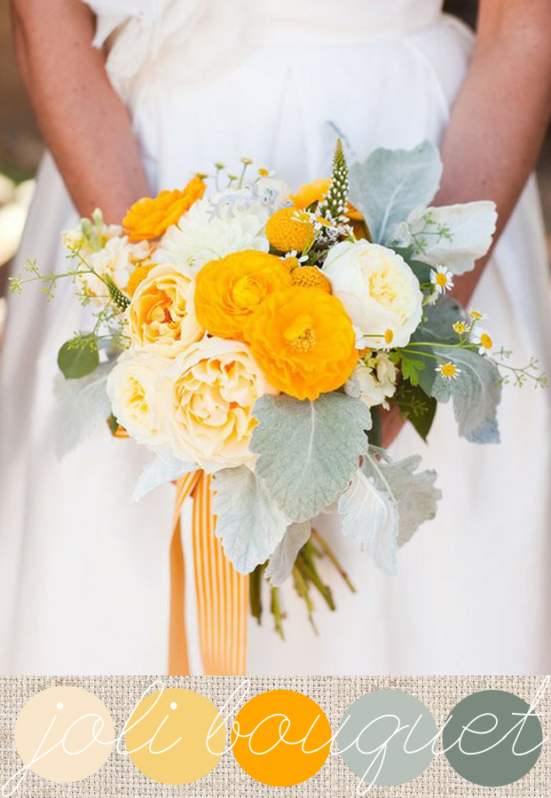 yellow and gray bouquet #wedding #bouquet