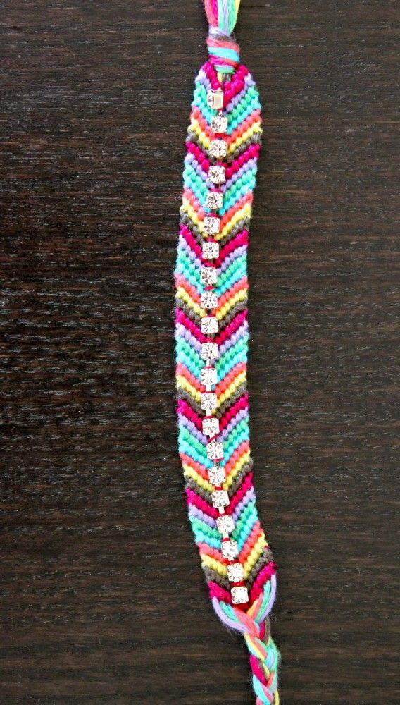 DIY Rhinestone Friendship Bracelet -   DIY Rhinestone bracelet Ideas
