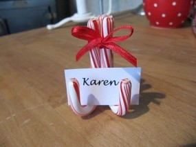Christmas Place settings. Love this!