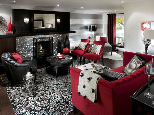 Black red White Rooms sets