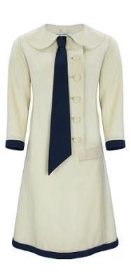 jean patou 1920's cream coat dress