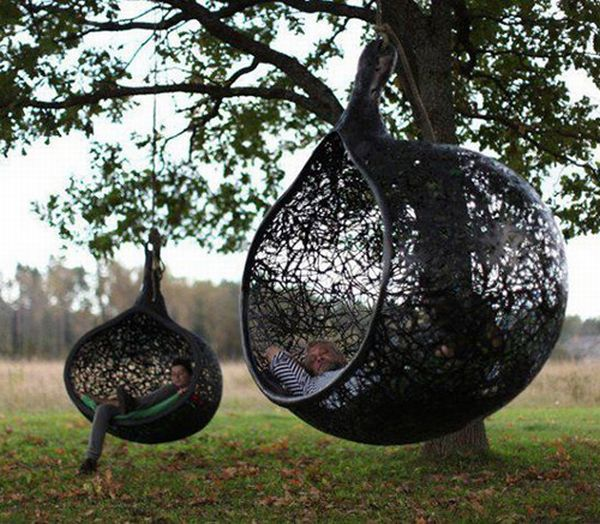 hanging chairs for the garden