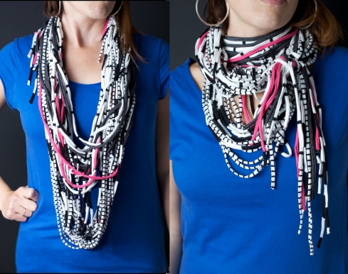 T-shirt yarn necklaces/scarves