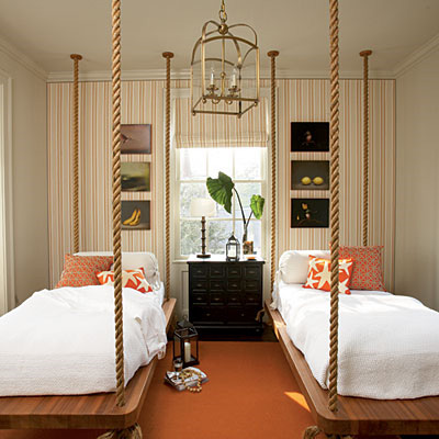 great children's bed? Love the rope suspension. Nate Berkus