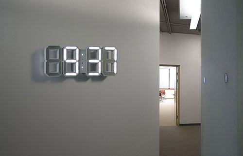 Traditional digital clock for your wall |White & White Clock is designed by