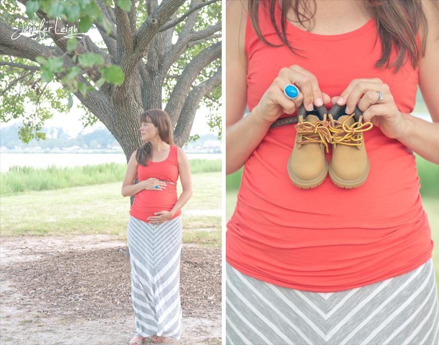 Summer Maternity Portraits #chevron