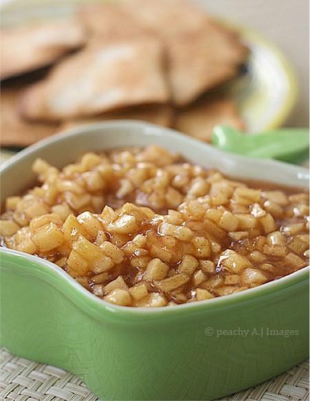 Apple pie salsa and cinnamon sugar tortillas