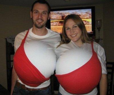 Funny Couple's Halloween costumes