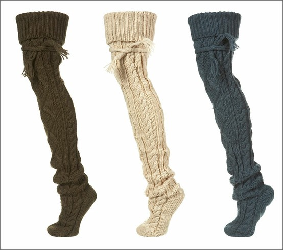 Cable knit socks. Perfect for layering with boots…or lounging around the house