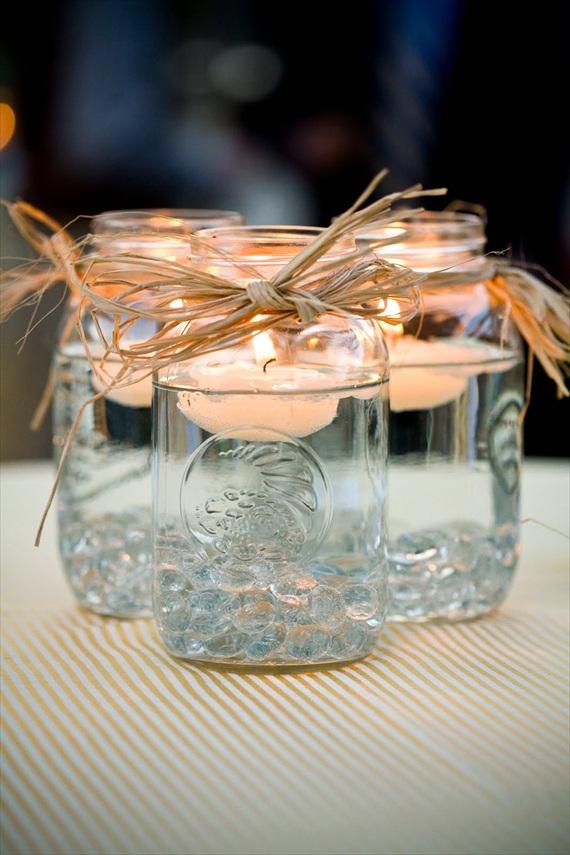 DIY candels in masonjars