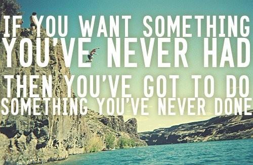 pushing yourself.