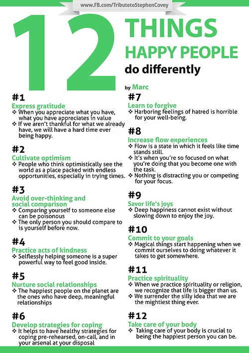 Stephen Covey …12 Things Happy People Do Differently!