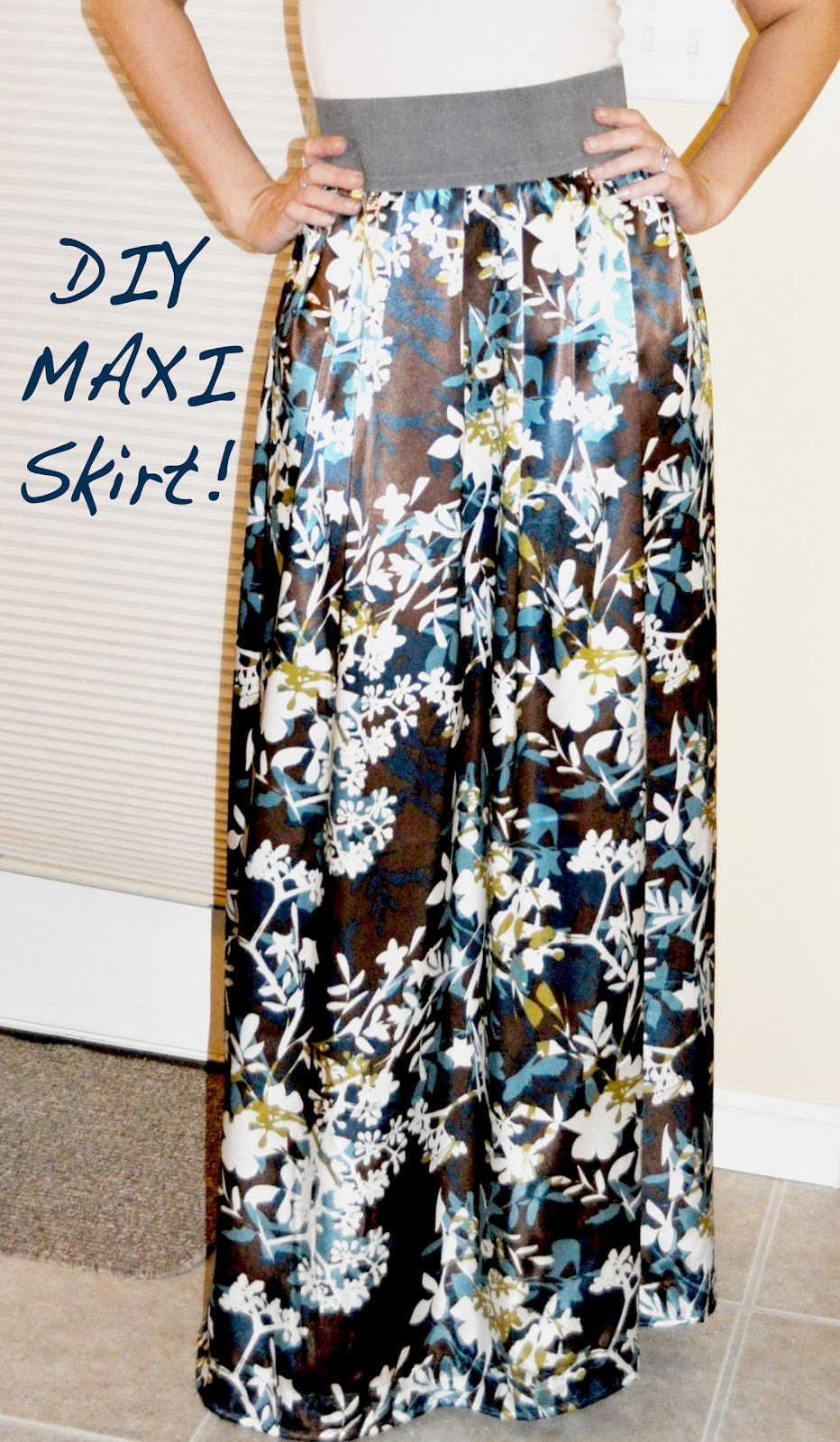 maxi skirt sewing