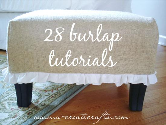 Beautiful burlap crafts.