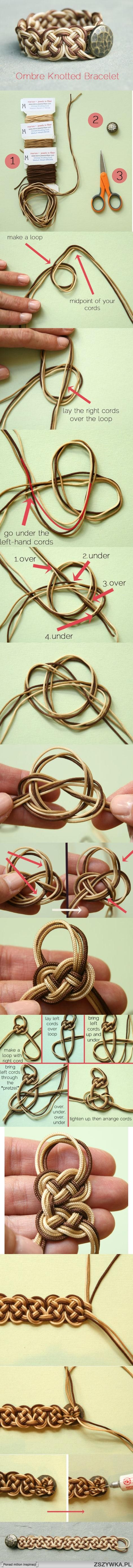 How to DIY Ombre Celtic Knot Bracelet