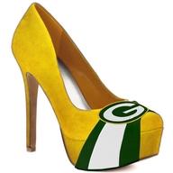 green bay packers heels