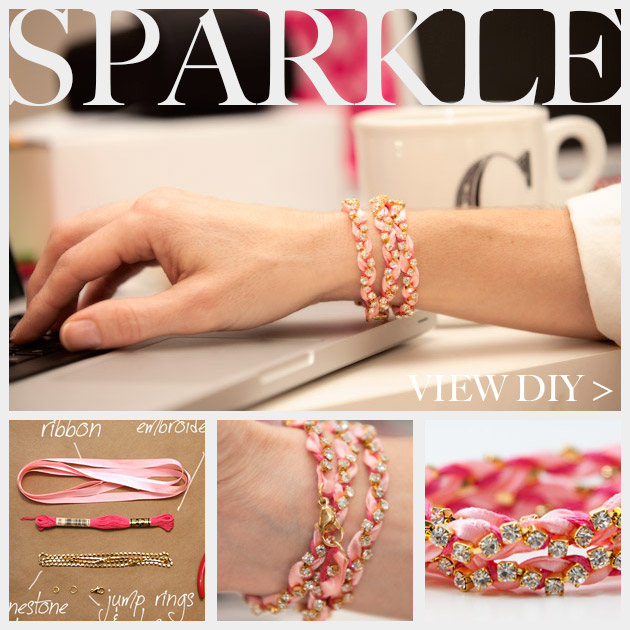 Rhinestone Braided Bracelet DIY Pictures, Photos -   DIY Rhinestone bracelet Ideas