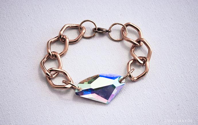 DIY: Rhinestone Chain Bracelet -   DIY Rhinestone bracelet Ideas