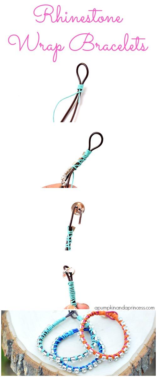 DIY Rhinestone Wrap Bracelet -   DIY Rhinestone bracelet Ideas