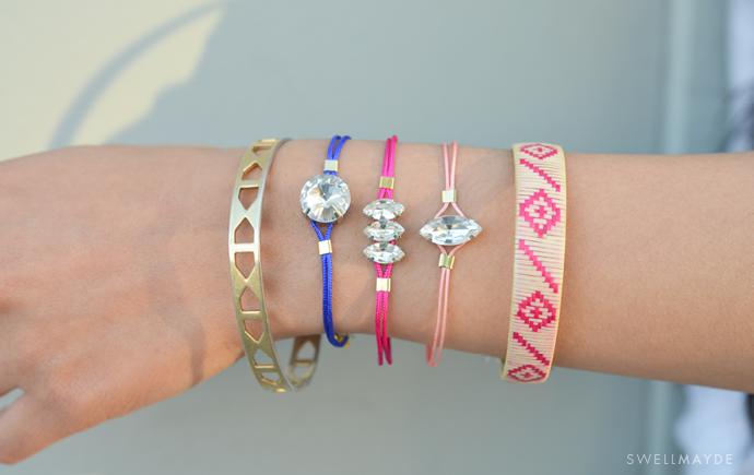 DIY | RHINESTONE CORD BRACELET -   DIY Rhinestone bracelet Ideas