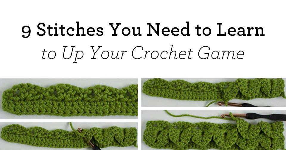 Advanced crochet stitches