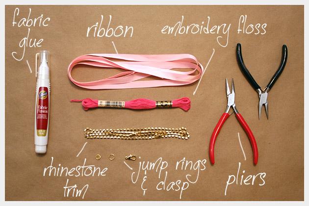 Rhinestone Braided Bracelet DIY Supplies -   DIY Rhinestone bracelet Ideas