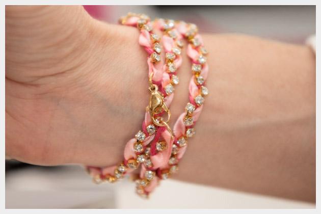 wearable diy rhinestone braided bracelet -   DIY Rhinestone bracelet Ideas