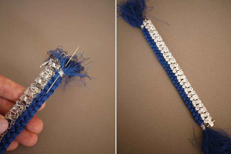 DIY Braided Rhinestone Bracelet -   DIY Rhinestone bracelet Ideas