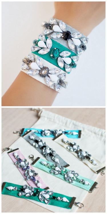 diy rhinestone bracelet -   DIY Rhinestone bracelet Ideas